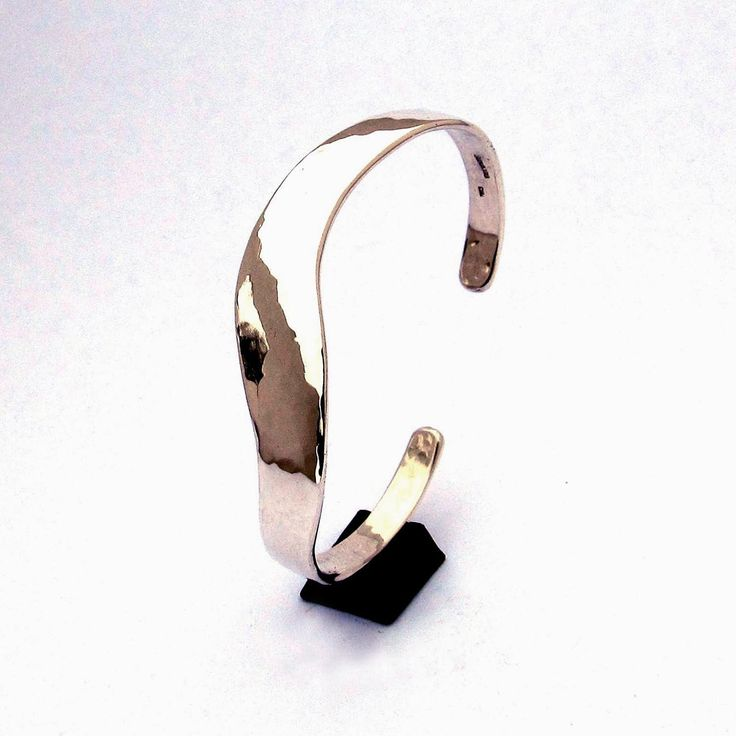 Sterling Cuff Bracelet, Slender S Curve, Light Hammering by cgwhitfield on Etsy https://www.etsy.com/listing/95748073/sterling-cuff-bracelet-slender-s-curve