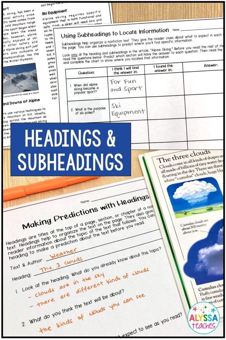 Teaching Students To Use Headings And Subheadings Is An Important Part Of The Nonfiction Te Nonfiction Texts Teaching Upper Elementary Nonfiction Text Features [ 1104 x 736 Pixel ]