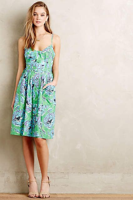 NWT Anthropologie Plenty By Tracy Reese Peony Floral Dress  | eBay