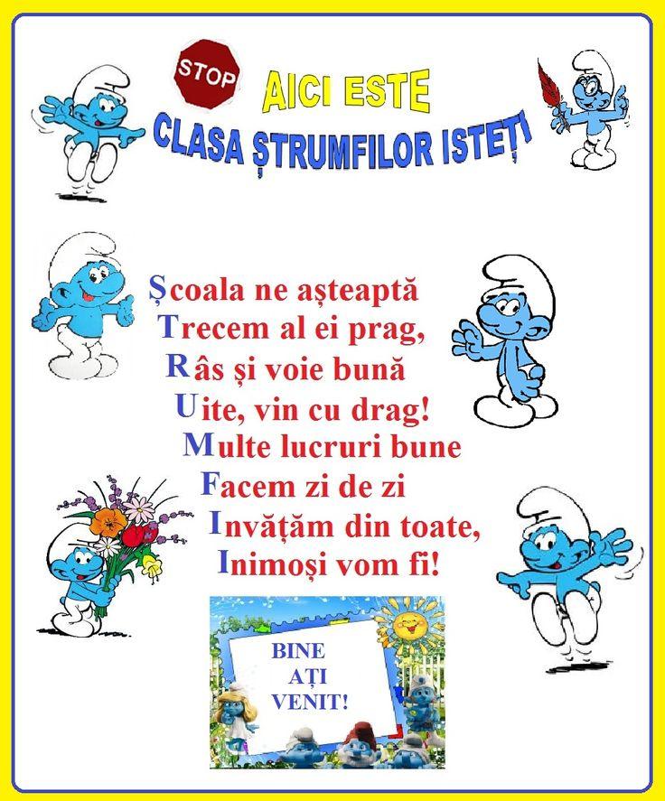 Simpaticii strumfi pot fi mascota ideală pentru cei mai mici școlărei - elevii clasei pregătitoare. Sala de clasă va deveni, cu siguranță, u...