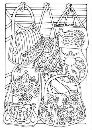 coloring pages of purses - photo#25
