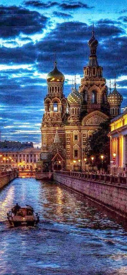 St. Petersburg (Санкт-Петербу́рг) in Russia | Travel destinations around the world | Russian Orthodox church - The Church of the Savior of Blood