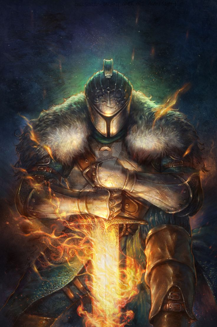 Dark Souls Issue 2 Cover by quahkm fighter paladin platemail armor clothes clothing fashion player character npc | Create your own roleplaying game material w/ RPG Bard: www.rpgbard.com | Writing inspiration for Dungeons and Dragons DND D&D Pathfinder PFRPG Warhammer 40k Star Wars Shadowrun Call of Cthulhu Lord of the Rings LoTR + d20 fantasy science fiction scifi horror design | Not Trusty Sword art: click artwork for source