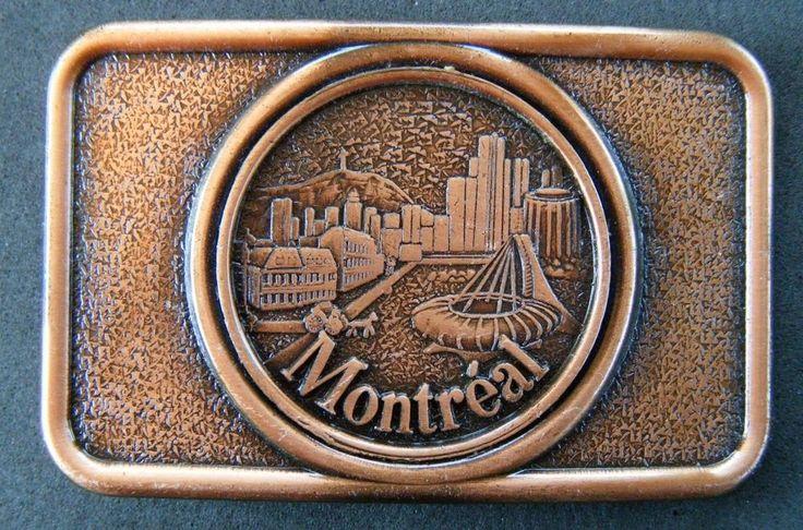 MONTREAL CITY SKYLINE QUEBEC CANADA OLYMPIC STADIUM BELT BUCKLE BOUCLE CEINTURES #MONTREAL #MONTREALSKYLINE #OLYMPICSTADIUM #QUEBEC #CANADA #BELTBUCKLE