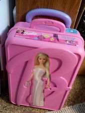 BARBIE STORAGE CARRY CARRYING TAKE A LONG DOLL CASE SUITCASE W/ WHEELS VHTF