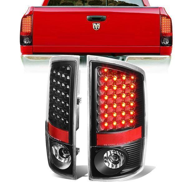07 09 Dodge Ram 1500 2500 3500 Led Rear Brake Tail Lights Black Tail Light Dodge Ram 1500 Rear Brakes