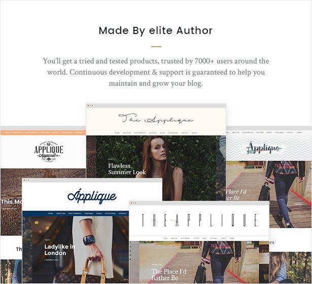 Marvelous Fashion Blog Theme   Applique