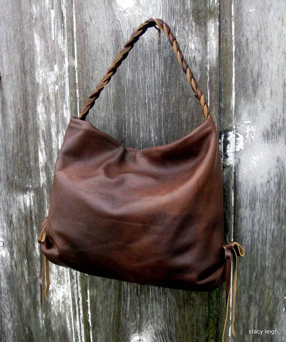 Brown Hand Rubbed Leather Hobo Bag by Stacy Leigh by stacyleigh & 154 best Bags images on Pinterest | Tote bag Wallets and Backpack bags