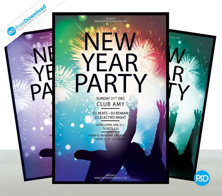 New Year Party Flyer Free Template Psd Free Download. Professional and creative design Party Flyer to promote on your small and medium business, company, website, social media. Fully layered and well organized PSD files. Layered PSD file you can easily change texts, content, images, objects and color.  Download: http://bit.ly/2yNNOIK  #Newyear #club #December #Download #Fire #Firework #flyer #Free #Graphic #Print #Night #Nye #Party #Photoshop #Poster #Printable #PSD #Psdfree #Template…