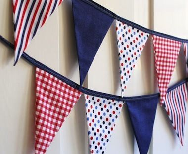 This red, white, and blue buntingwould make a festive addition to any Independence Day celebration!