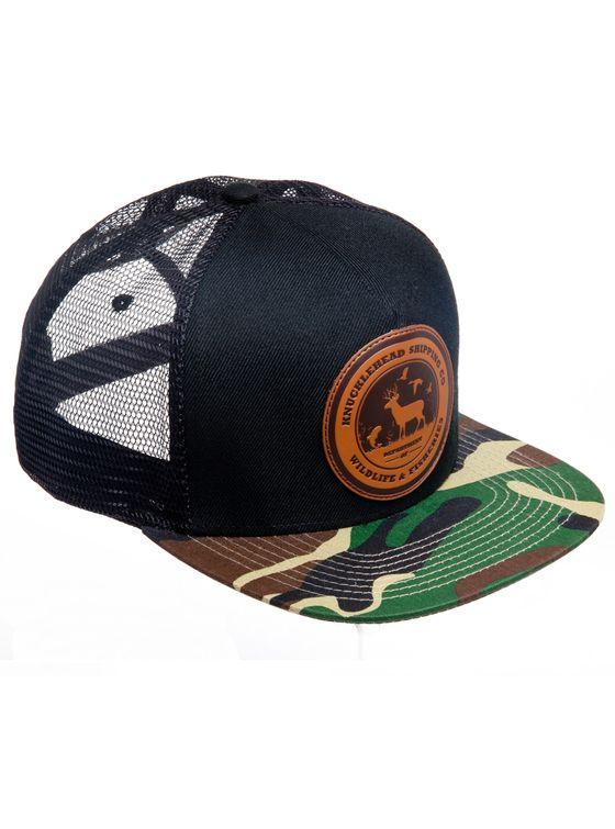 WNF CAMO CAP  5 panel snap-back cap.