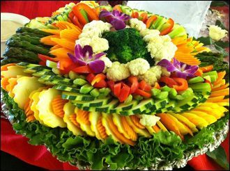 vegetable tray ideas | Vegetable tray | Party Ideas