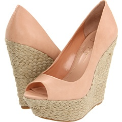 Should I wear these with the dress I bought for the wedding? J.Simp wedge 5' heels
