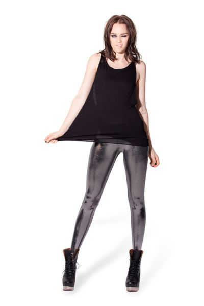 Liquid Silver Leggings - LIMITED ($80.00) from blackmilkclothing.com