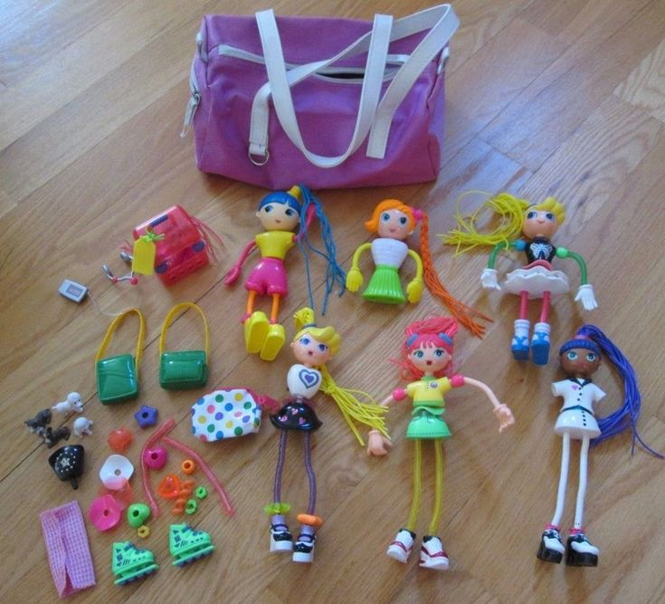 Betty Spaghetty Dolls LARGE Bundle Collection with Accessories + Storage Bag #BettySpaghetty