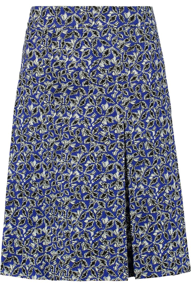 MARNI Printed Linen-Blend Skirt. #marni #cloth #skirt