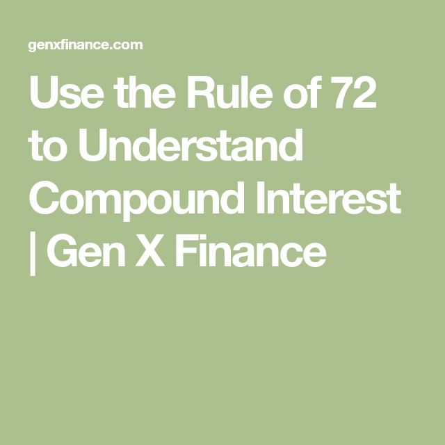 Use the Rule of 72 to Understand Compound Interest | Gen X Finance