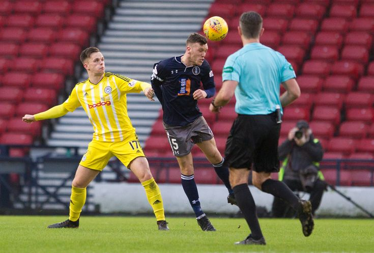 Queen's Park's Adam Cummins in action during the SPFL League One game between Queen's Park and Ayr United.