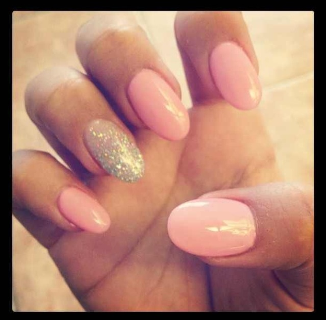 Oval shaped nails. Too long for my taste but will try. - 110 Best Nails Images On Pinterest Oval Nails, Nude Nails And