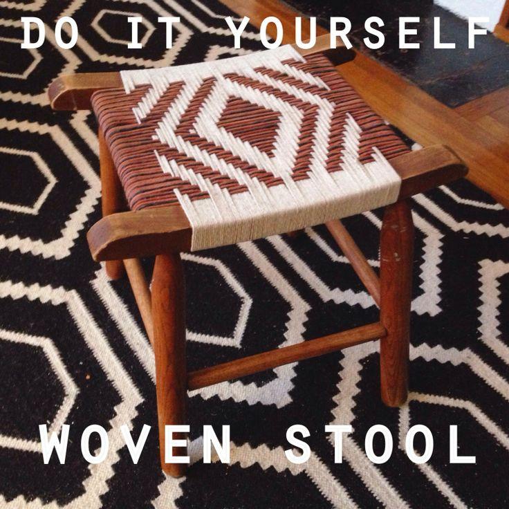 DIY Woven Stool Erin Pauls ONE FINE PINE Diy woven