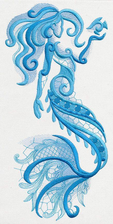 Aquarius Mermaid Urban Threads Unique And Awesome