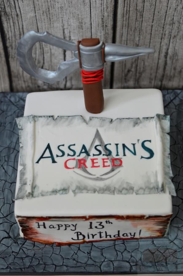 Assessin's creed cake - Cake by designed by mani