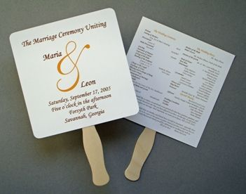 17 Best images about Wedding Programs/Fans on Pinterest ...
