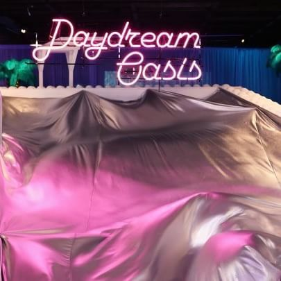 """QUANTUM PROJECT  33rd 'Daydream Oasis'  2016.06.22 - 07.18  #Quantumproject """"#DaydreamOasis"""" is a surreal #pool. Like the #dream of escaping from the #hotsummer days, a surreal pool has opened to become the #oasis for our typical mundane #lives."""