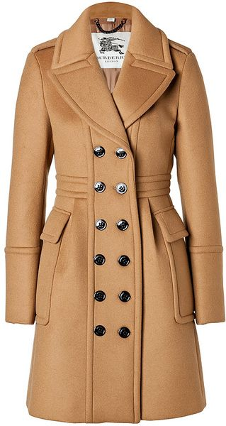 BURBERRY Cashmere Wool Winstan Coat in Ochre Brown - Lyst