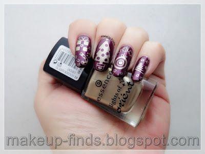 Stamping: Manicura Navideña con Base Burdeos (Dream Girl 11) #mani #manicure #nailpolish #nailpolishaddicts #polishaddict #notd #nailswag #nailsofig #nailaddict #stamping #stampingnailart #nailstamping