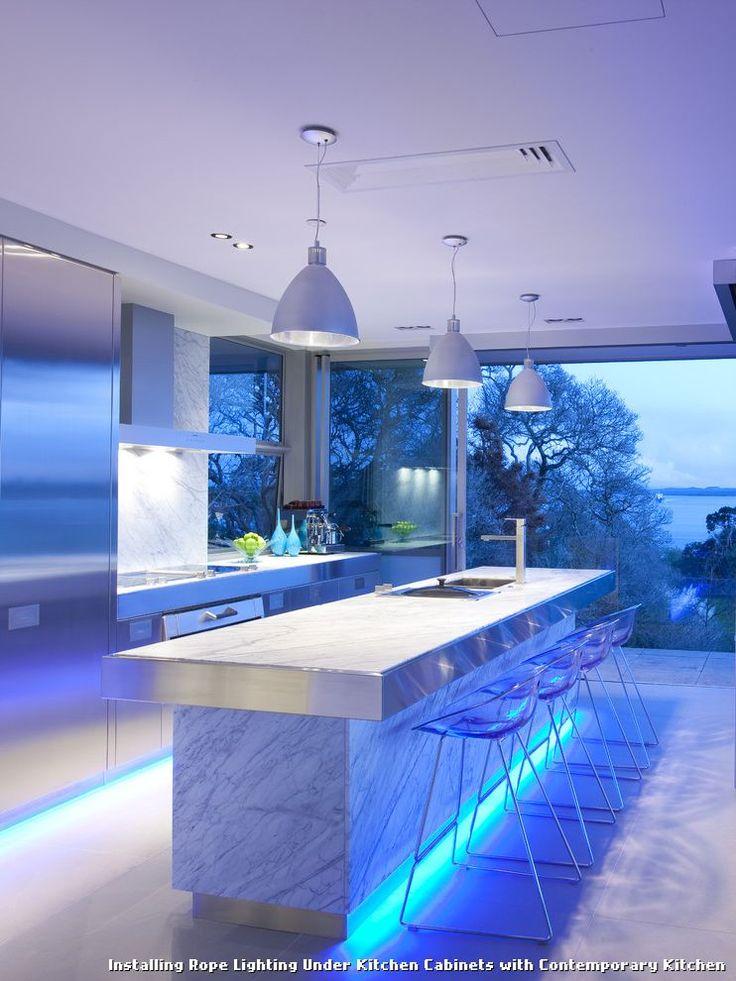 Installing Rope Lighting Under Kitchen Cabinets with Contemporary Kitchen, kitchen lighting from Installing Rope Lighting Under Kitchen Cabinets