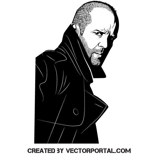 Actor Jason Statham Free Vector Illustration Jason Statham Statham