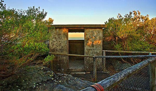 Old Army Lookout In Sunset Hour