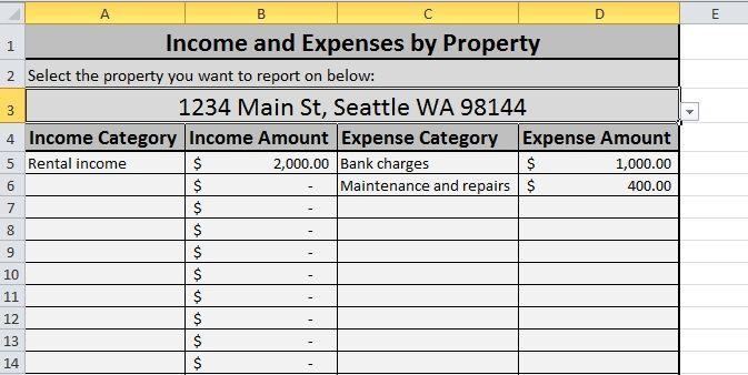 Rental Property Spreadsheet Free