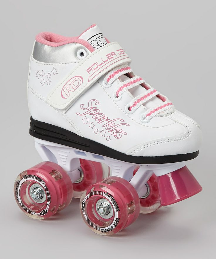 Take a look at this White & Pink Sparkles Roller Skates - Girls on zulily today!