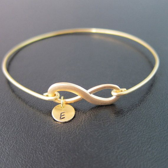 Infinity Bracelet, Personalized Gift, Wedding Gifts for Bridesmaid, Monogram Bridesmaid Gift, Infinity Knot Jewelry, Unique Bridesmaid Gift