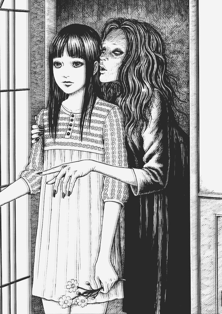"""Whispering Woman"" by Junji Ito True lies.feeding her. Ref09"