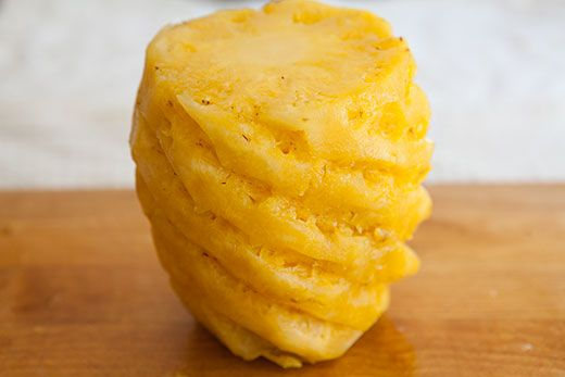 Step by step instructions on how to cut a pineapple, so you keep the sweetest and juiciest parts.