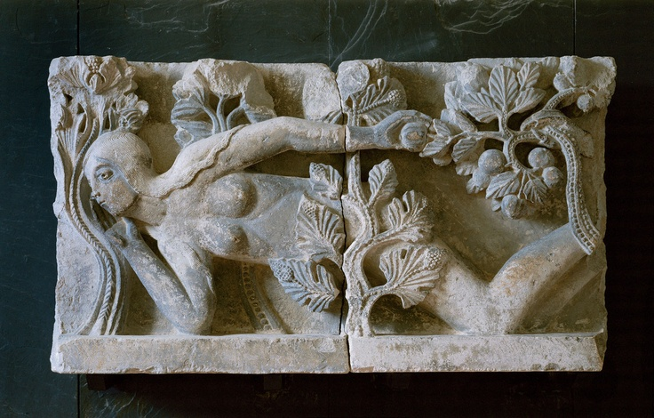 Eve, by Gislebertus, 1120s - Rolin Museum, Autun (originally from cathedral)