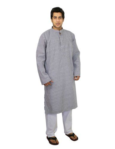 Black white striped Kurta pajama set for men indian dress for summer, size L ShalinIndia,http://www.amazon.com/dp/B00J4LF6DW/ref=cm_sw_r_pi_dp_0kgHtb1DFX4Q9W0F