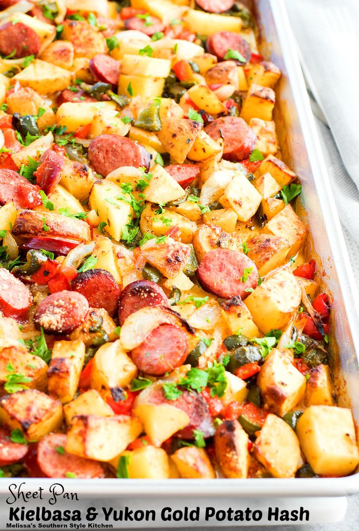 This versatile Sheet Pan Kielbasa and Yukon Gold Potato Hash is chock-full of flavor. Tender cubes of Yukon Gold potatoes, peppers and onion tossed with kielbasa and baked until golden and crispy. This savory delight can be served at any time of day. Are you planning a kicked-up brunch? This will be the star and...Read More »