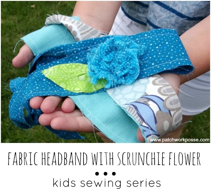 Fabric Headband tutorial - sewing projects for kids