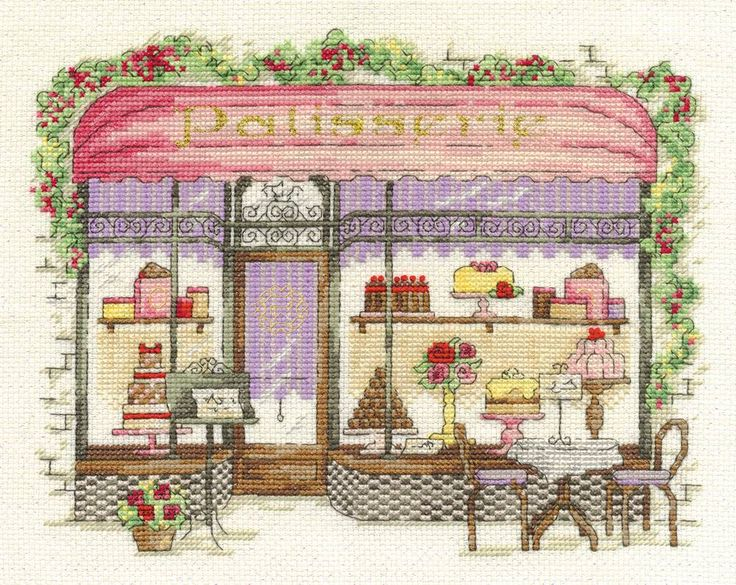 Patisserie Cross Stitch Kit, Designed by Maria Diaz - £22.50 on Past Impressions | from DMC