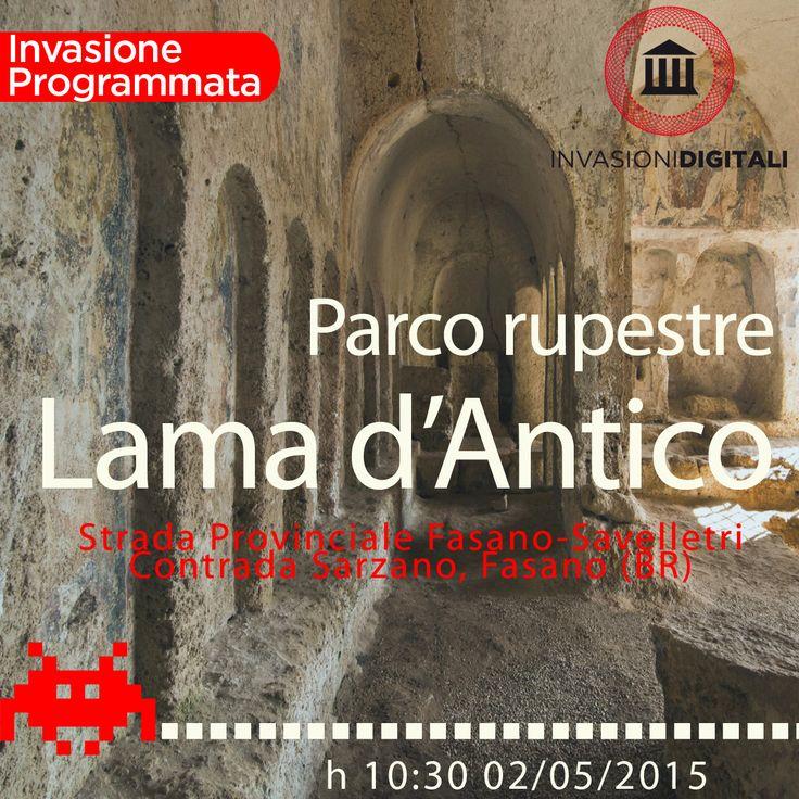 Le #invasioni digitali raggiungono il Parco di Lama d'Antico, uno dei più suggestivi insediamenti medievali in grotta della Puglia, immerso in un habitat naturale dominato da ulivi secolari e dalla macchia mediterranea.  #invasionidigitali #digitalinvasion #invadilamadantico #invadiamolamadantico #lamadantico