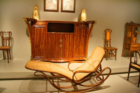 Art nouveau furniture collection around buffet by louis for Art nouveau chaise longue