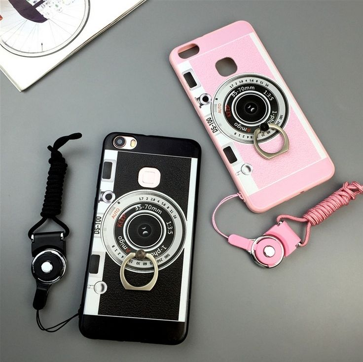 2016 New Retro Fashion Camera Style Silicon Phone Case Cover Without Long Strap Rope For HUAWEI Mate8 P9