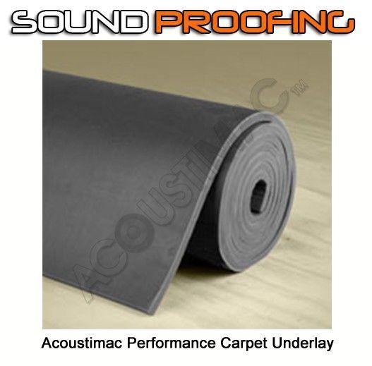 Acoustimac Soundproofing Performance Carpet Underlay: Roll 4.5u0027 X 20u0027 ...