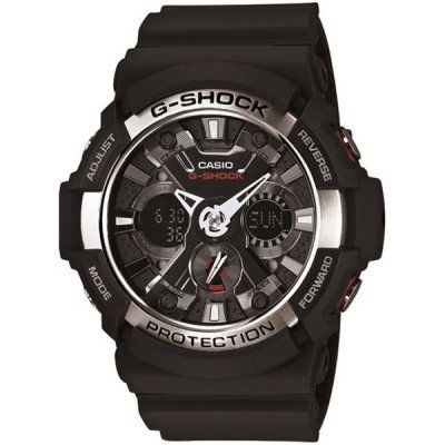Casio G-Shock New Release Black/Silver Chrono Mens Watch - GA-200-1A1ER  RRP: £150.00 Online price: £119.00 You Save: £31.00 (21%)  www.lingraywatches.co.uk