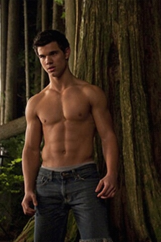 Twilight's Jacob Black shirtless in the forest