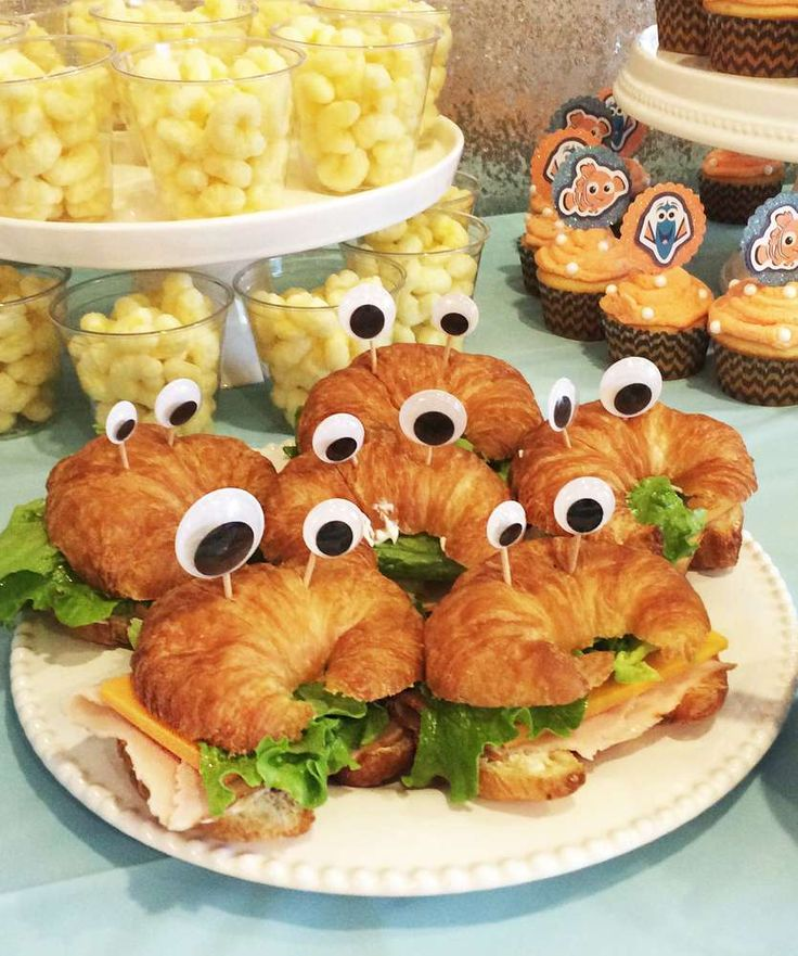 Loving the party food at this Nemo Birthday party!! See more party ideas and share yours at CatchMyParty.com